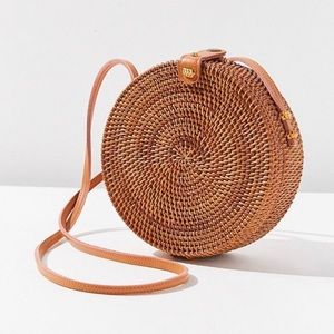 Urban outfitters round straw crossbody bag